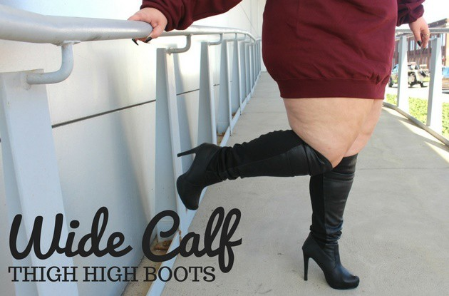 02652ba9f77 Plus Size Thigh High Wide Calf Boots - Ready To Stare