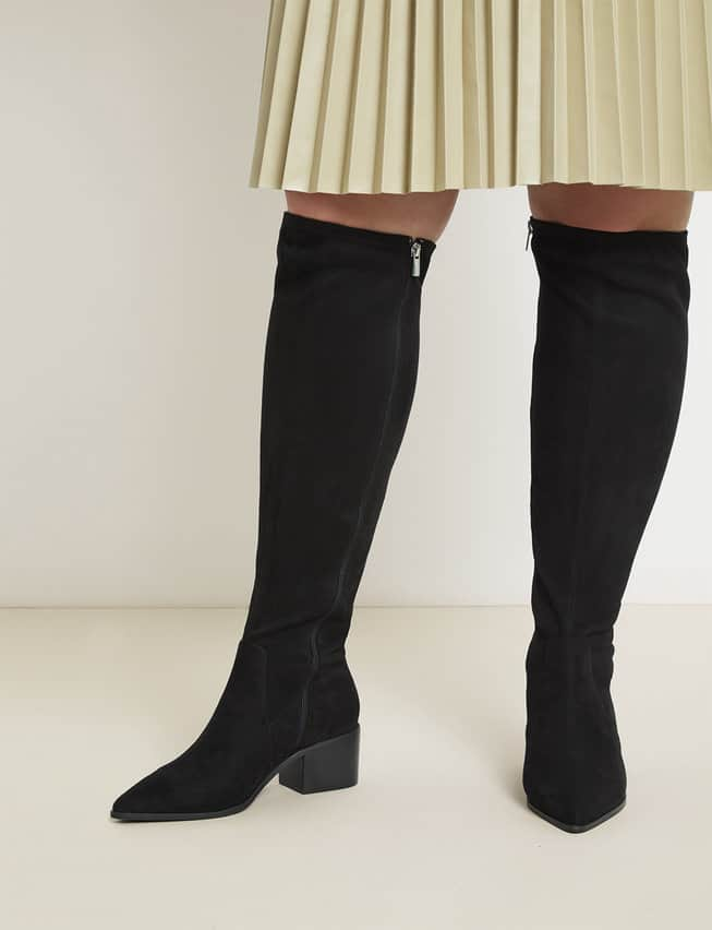 Plus Size Thigh High Wide Calf Boots
