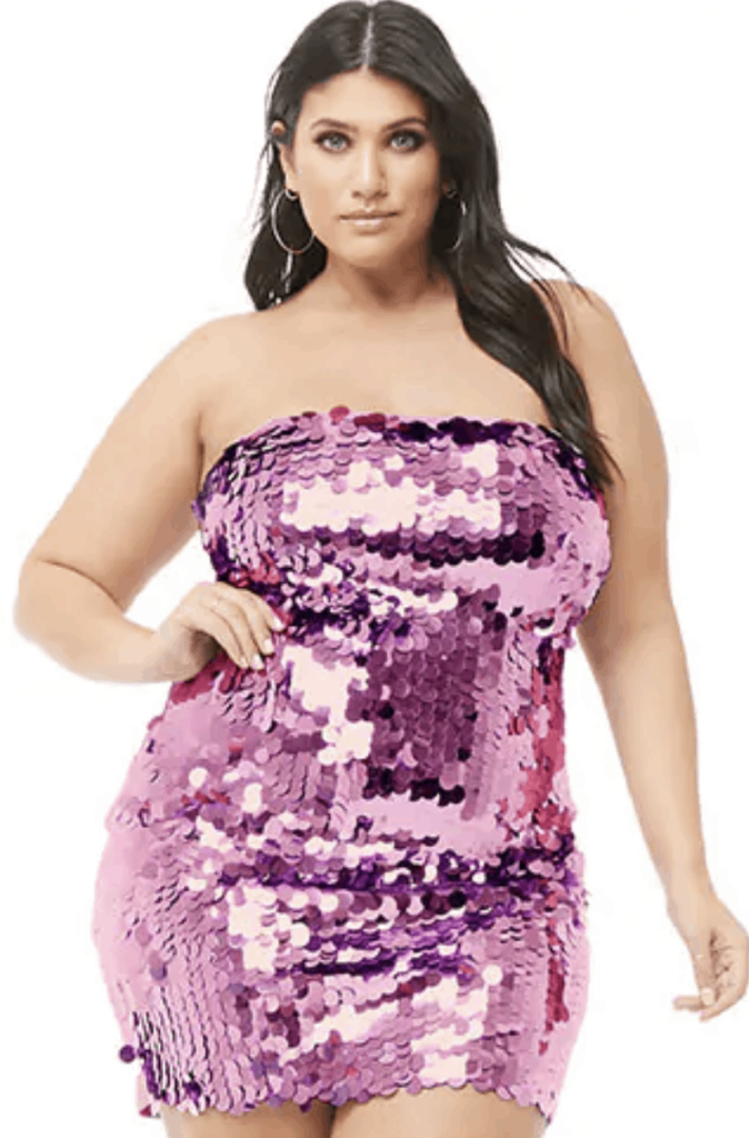 Plus Size Holiday Clothes: How to Wear Sequins - Ready To Stare
